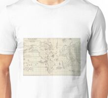 Vintage Map of The World Whaling Grounds (1880) Unisex T-Shirt