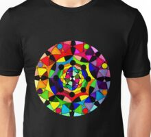 Psychedelic Abstract Colourful 182 Crest Unisex T-Shirt