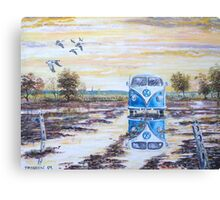 Volkswagen camper / After the rain. Canvas Print