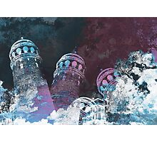 Tower modern galata tower surreal painting art design Photographic Print