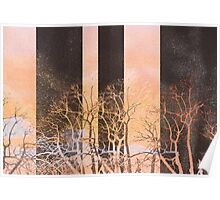 Voice modern trees nature painting art design Poster