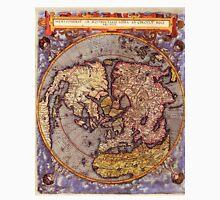 Vintage Map of The World's Northern Hemisphere Unisex T-Shirt
