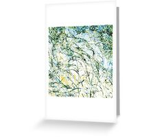 New life modern nature pattern bloom painting art design Greeting Card