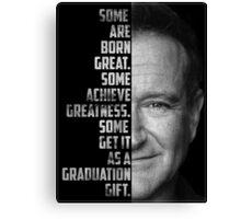 Robin Williams Text Portrait Canvas Print