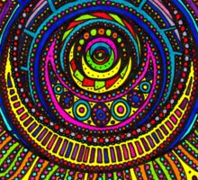 Psychedelic Abstract colourful work 212 Crest Sticker