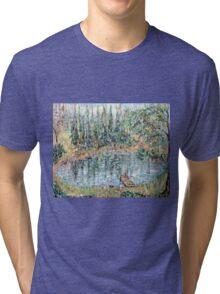 Fishing in the Summer Rain Tri-blend T-Shirt