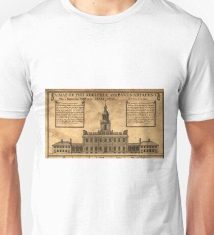 Vintage Illustration of Independence Hall Unisex T-Shirt