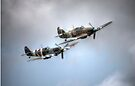 BBMF Spitfire and Hurricane by Nigel Bangert