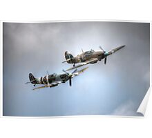 BBMF Spitfire and Hurricane Poster