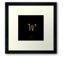 W Golden Alphabet Series Framed Print