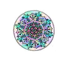 Mandala Compass Photographic Print