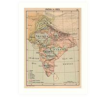 Vintage Map of India (1823) Art Print