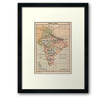 Vintage Map of India (1823) Framed Print