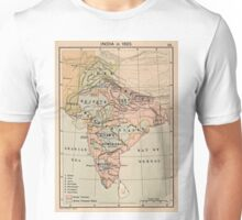 Vintage Map of India (1823) Unisex T-Shirt