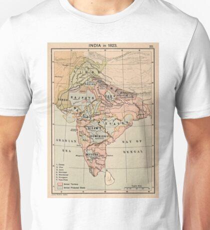 Vintage Map of India (1823) Unisex T-Shirt