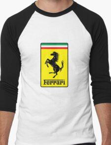 Ferrari Logo Men's Baseball ¾ T-Shirt