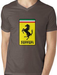 Ferrari Logo Mens V-Neck T-Shirt