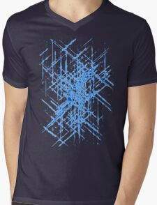 Abstract Blueprint Mens V-Neck T-Shirt