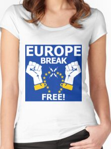 Europe Break Free! Women's Fitted Scoop T-Shirt