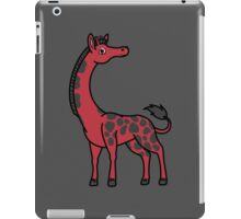 Red Giraffe with Black Spots iPad Case/Skin