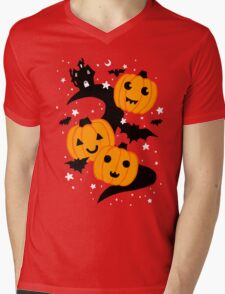 Haunted Lane Mens V-Neck T-Shirt