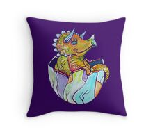 Baby Triceratops Throw Pillow