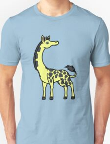 Yellow Giraffe with Black Spots Unisex T-Shirt