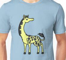 Yellow Giraffe with Black Spots Unisex T-Shirt