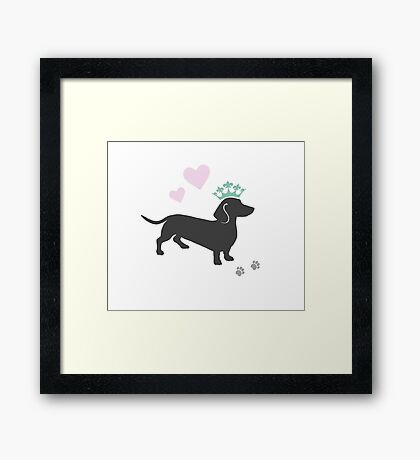 The Royal Dachshund Framed Print