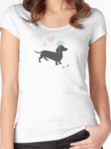 The Royal Doxie Women's Fitted Scoop T-Shirt