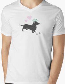 The Royal Doxie Mens V-Neck T-Shirt