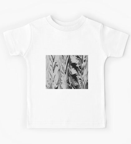 Abstract black & white 355H Kids Tee