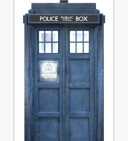 Travel like a Timelord Sticker