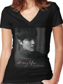 Lee Min Ho All My Life Women's Fitted V-Neck T-Shirt