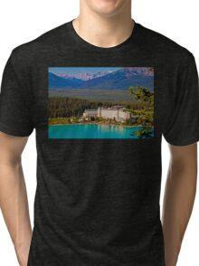 Canada. Lake Louise. Chateau Lake Louise. Tri-blend T-Shirt