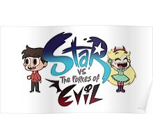 Star vs the forces of Evil w/ Star & Marco Poster