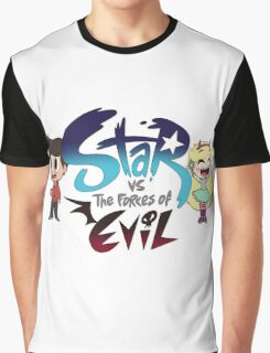 Star vs the forces of Evil w/ Star & Marco Graphic T-Shirt
