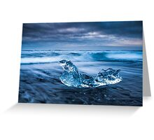 The Crystal Ice - Iceland Greeting Card