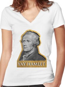 Yay Hamlet Women's Fitted V-Neck T-Shirt