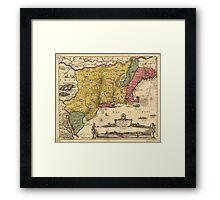 Vintage Map of New England (1685) Framed Print