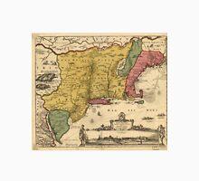Vintage Map of New England (1685) Unisex T-Shirt