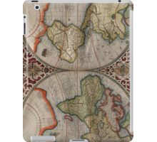 Vintage Map of The World (1587) iPad Case/Skin