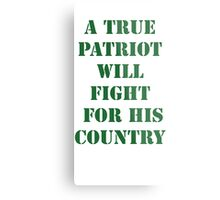 True Patriot Metal Print