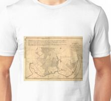 Vintage Map of The Mount Vernon Plantation (1801) Unisex T-Shirt