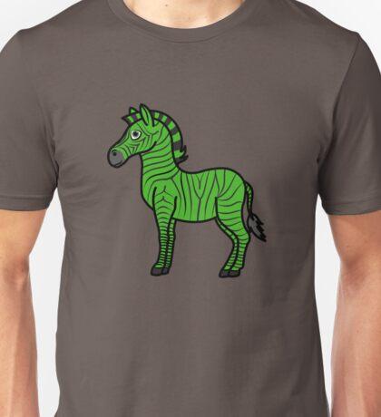 Green Zebra with Black Stripes Unisex T-Shirt