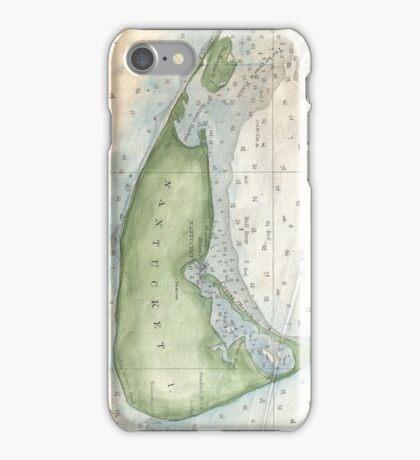 Vintage Map of Nantucket (1857) iPhone Case/Skin