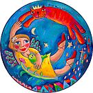 Blue Moon Blessings by ART PRINTS ONLINE         by artist SARA  CATENA