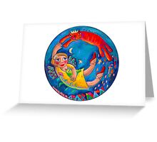 Blue Moon Blessings Greeting Card