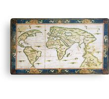 Vintage Map of The World (1566) Metal Print