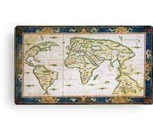 Vintage Map of The World (1566) Canvas Print